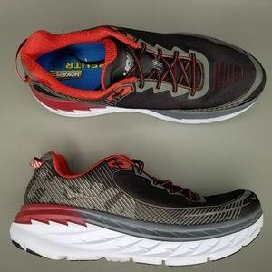 Hoka One One Bondi 5 Running Shoes 13 2E Gray Red